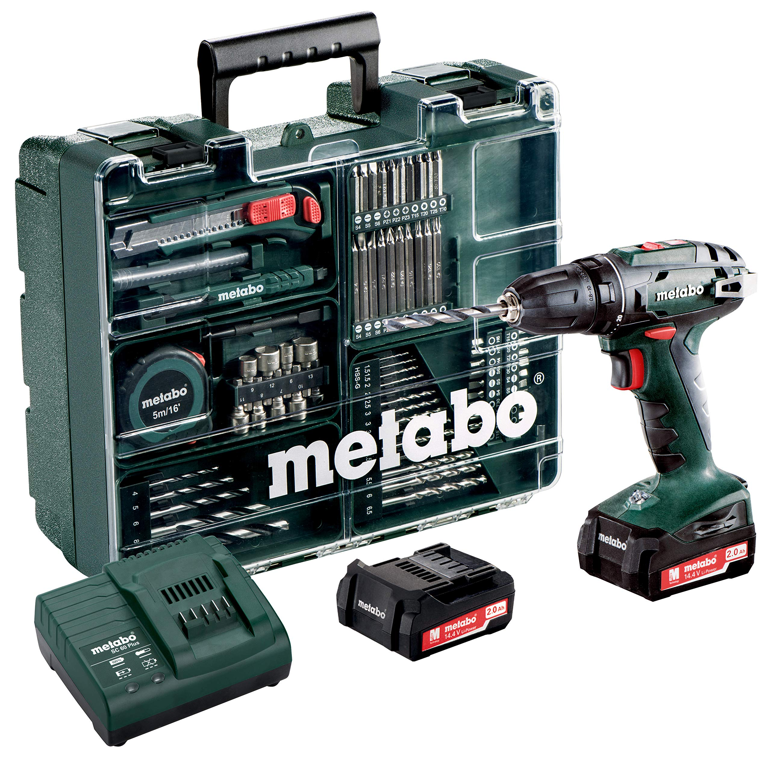 Metabo-60220688-144-Set-Workshop-74-Acc-BS-144-Mobile-Werkstatt-20-Ah-10-mm-SC-60-Plus-144-V-Metabo-Bit-Box-32-TLG-626700000-gemischt-PHPZTXInbus