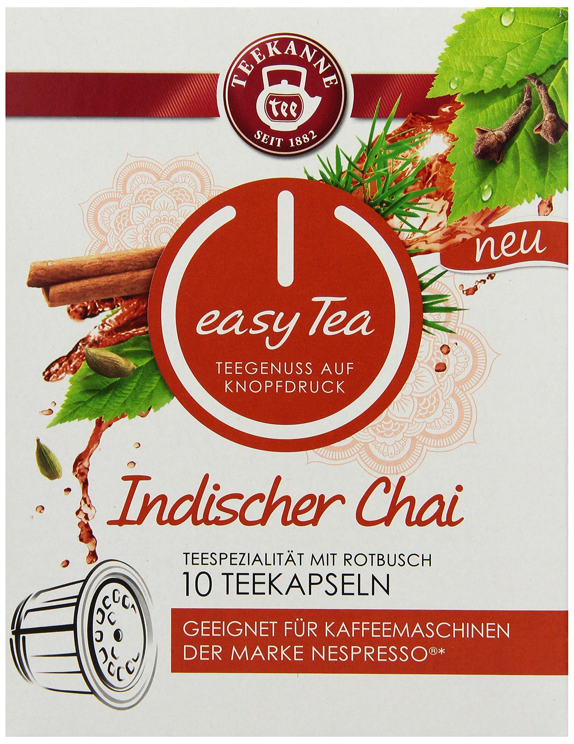 Teekanne-easy-Tea-Indischer-Chai-10-Stck-Teekapseln-fr-Nespresso-Kaffeemaschinen-6x-10er-Pack-6-x-30-g