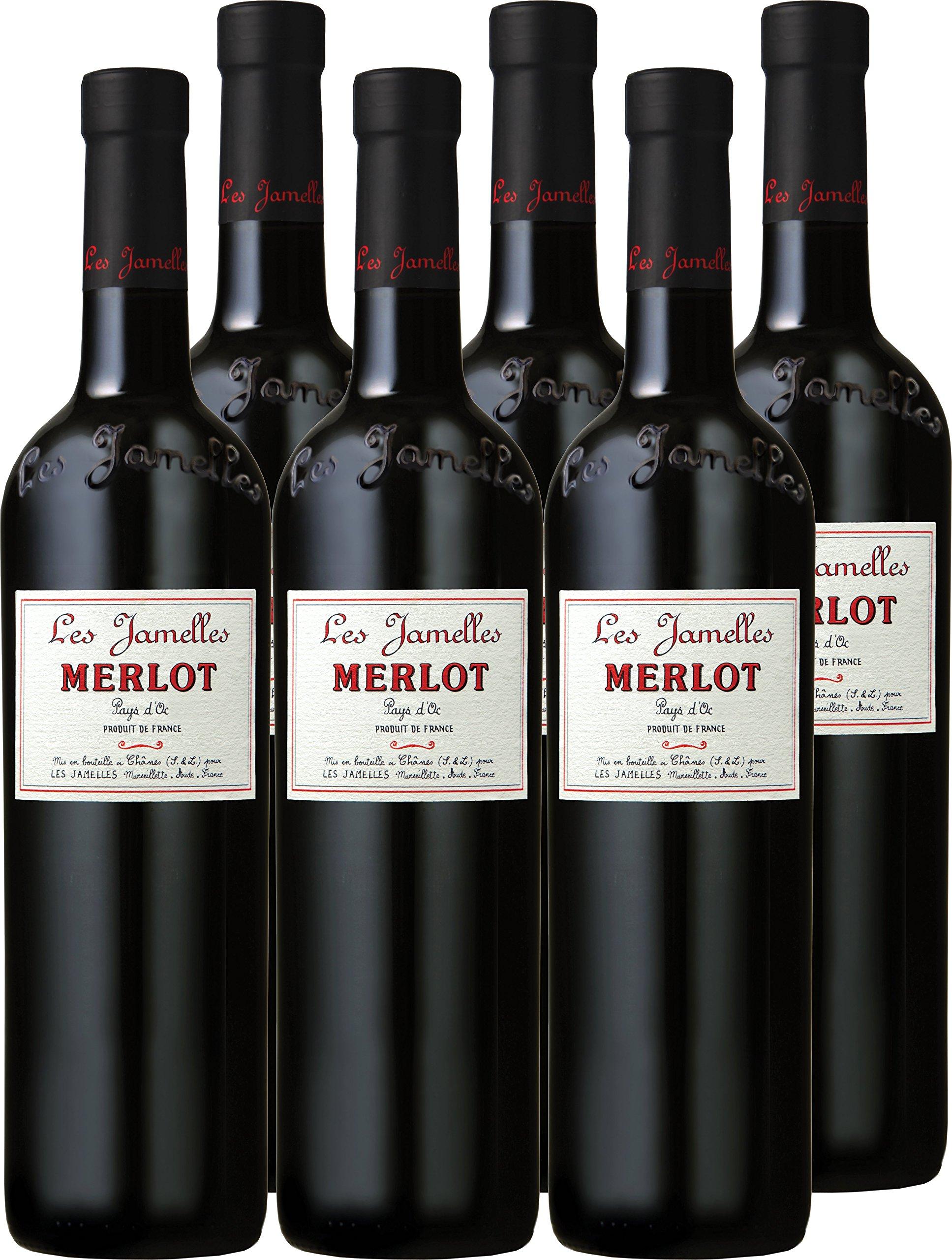 Merlot-Les-Jamelles-rot-trocken-13-vol-6er-Paket