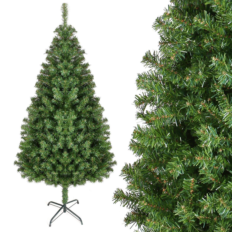 180cm195cm210cm240cm-Knstlicher-Weihnachtsbaum-Tannenbume-Christbaum-mit-Metallstnder-850100012001300-Spitzen-schwer-entflammbare-Materialien-AuenInnen-Weihnachtsdeko