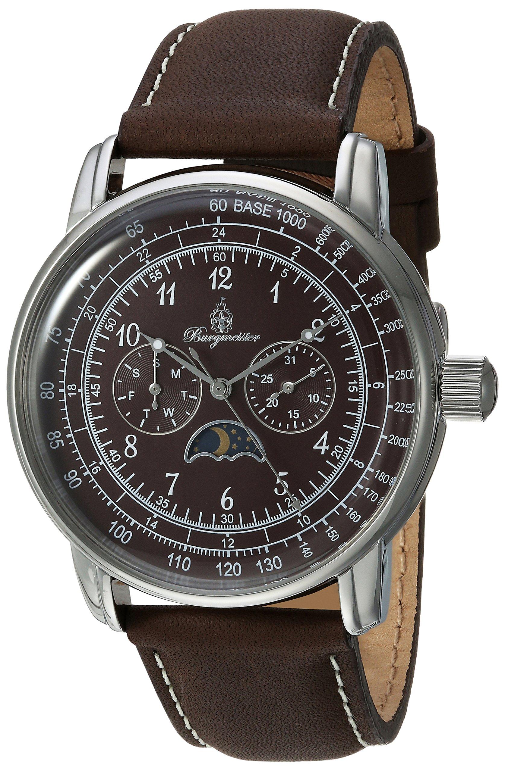 Burgmeister-Armbanduhr-fr-Herren-mit-Analog-Anzeige-Quarz-Uhr-und-Lederarmband-Wasserdichte-Herrenuhr-mit-zeitlosem-schickem-Design-klassische-Uhr-fr-Mnner-BM335-195-Linz
