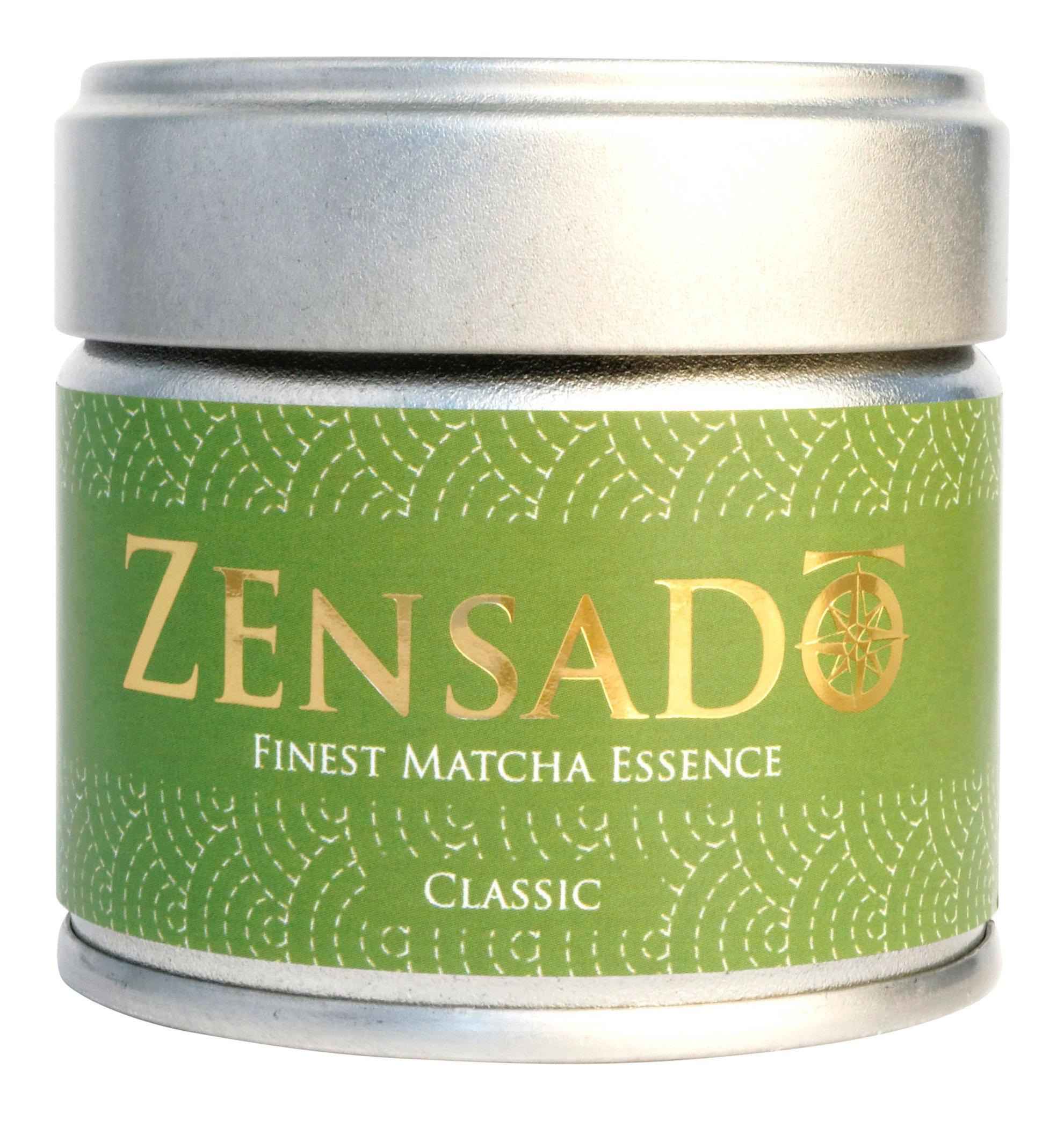 ZENSADO-CLASSIC-FINEST-MATCHA-ESSENCE-Matcha-Tee-Pulver-Grntee-Pulver-fr-Matcha-Getrnk-Matcha-Smoothies-Matcha-Latte-Premium-Qualitt-aus-Japan-30g