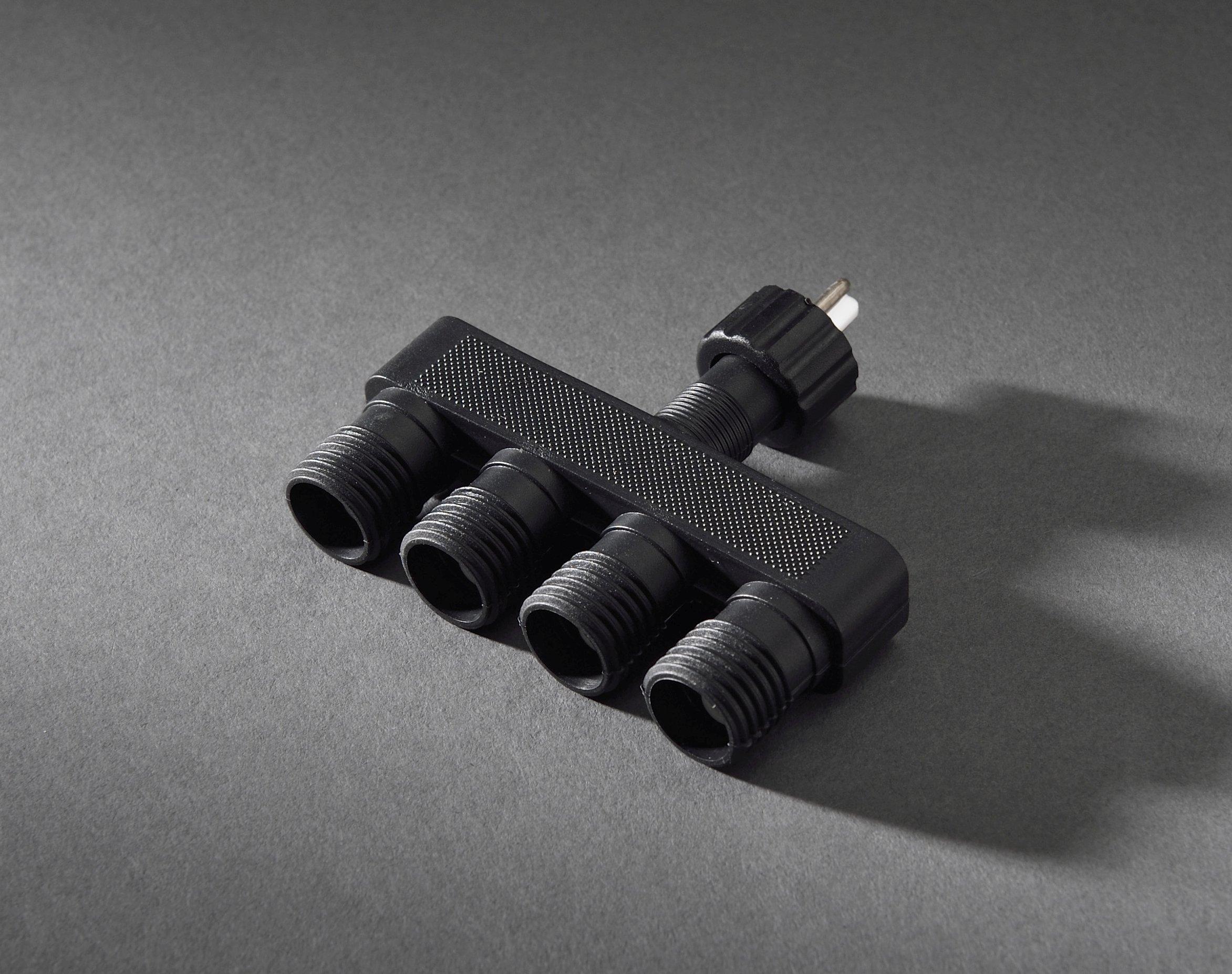Konstsmide-4603-000-LED-Hightech-System-Verteiler-1-Eingang4-Ausgnge-fr-Auen-IP44-VDE-geprft