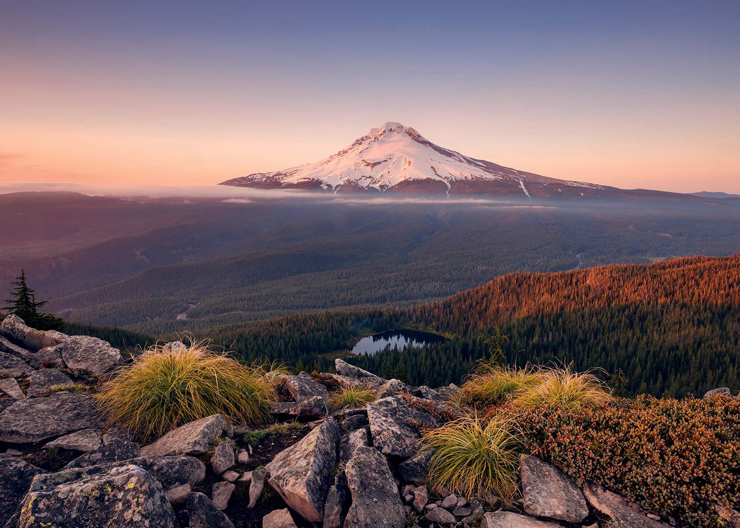 Ravensburger-Erwachsenenpuzzle-15157-Stratovulkan-Mount-Hood-in-Oregon-USA-Puzzle