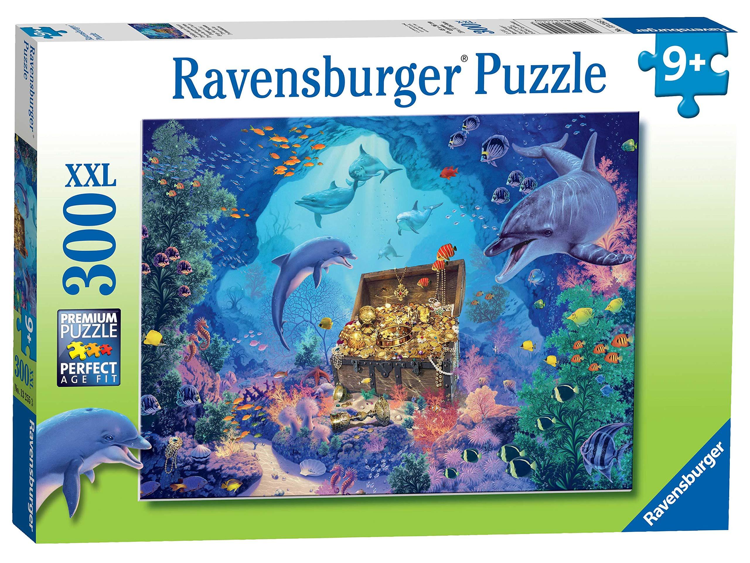 Ravensburger-13255-Tiefsee-Schatz-XXL-Puzzle-300-Teile-Mehrfarbig