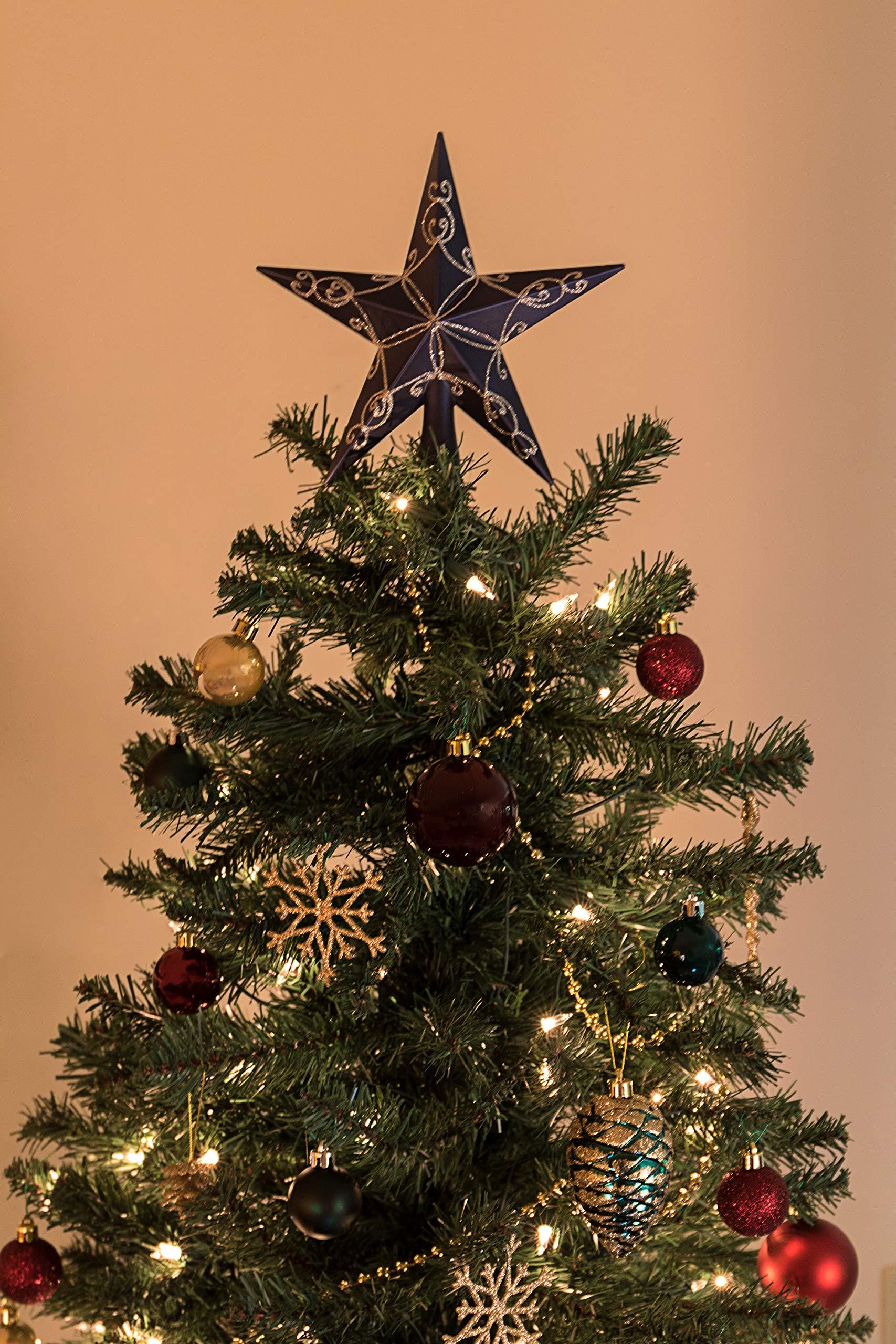 Clever-Creations-Weihnachtsbaumspitze-mit-blauem-Stern-Festliche-Weihnachtsdekoration-glitzernd-bruchfester-Kunststoff-203-cm-hoch-perfekt-fr-jeden-Weihnachtsbaum