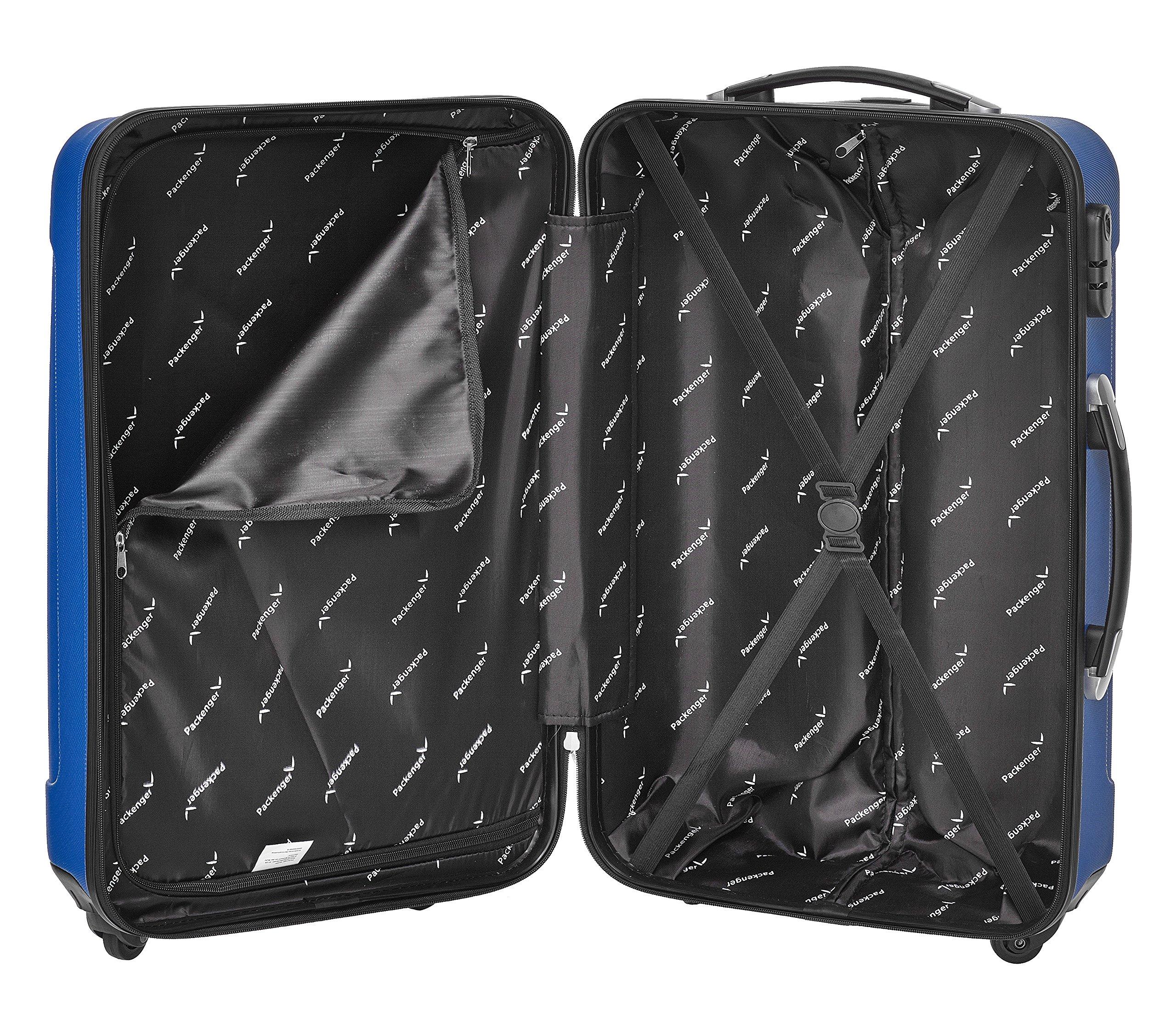 Packenger-Kofferset-Torreto-3-teilig-M-L-XL-4-Rollen-Koffer-mit-Zahlenschloss-Hartschalenkoffer-ABS-robuster-Trolley-Reisekoffer