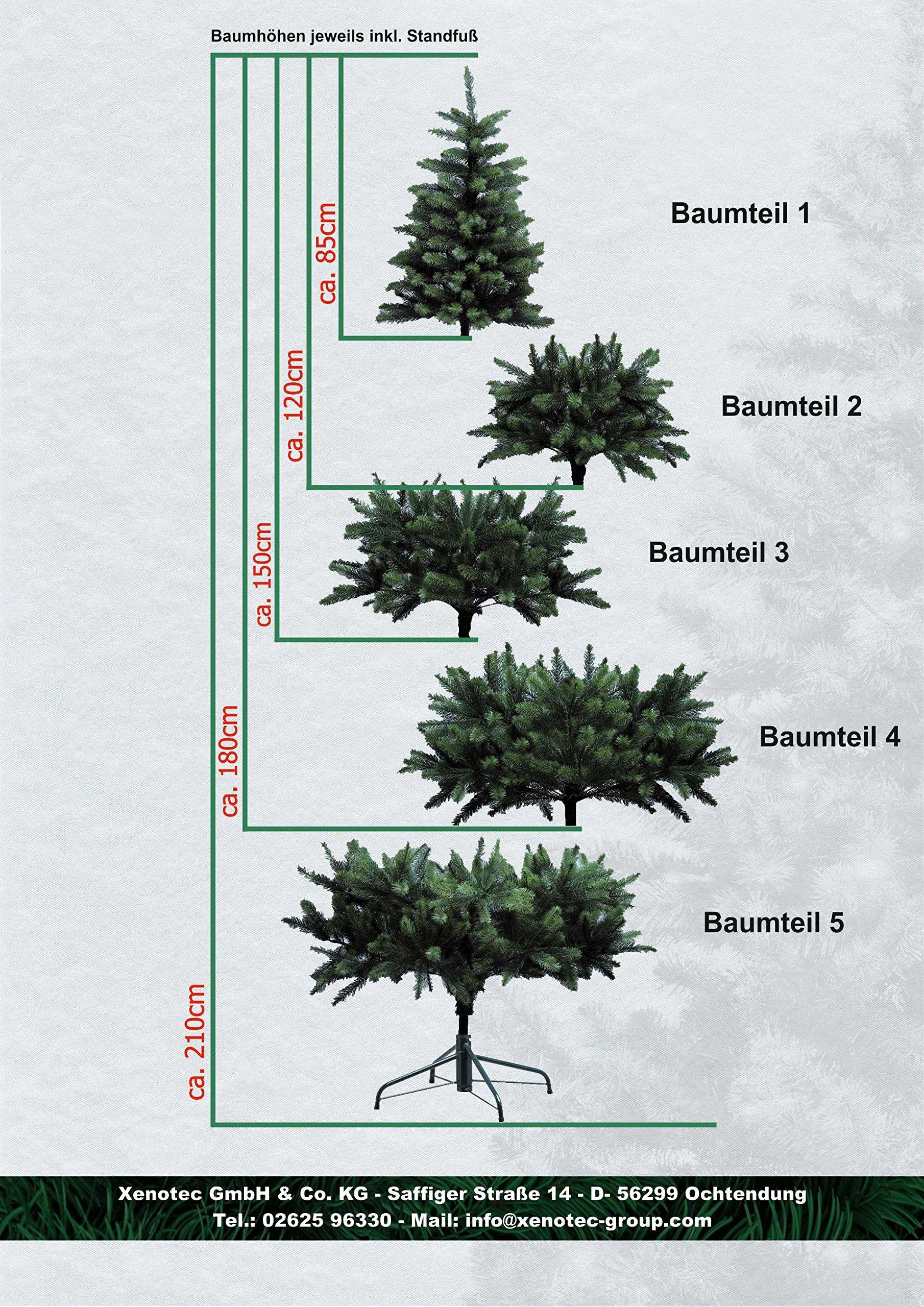 XENOTEC-Voll-PE-Weihnachtsbaum-knstlich-Hhe-ca-120-cm-naturgetreu-im-Spritzgussverfahren-hergestellt