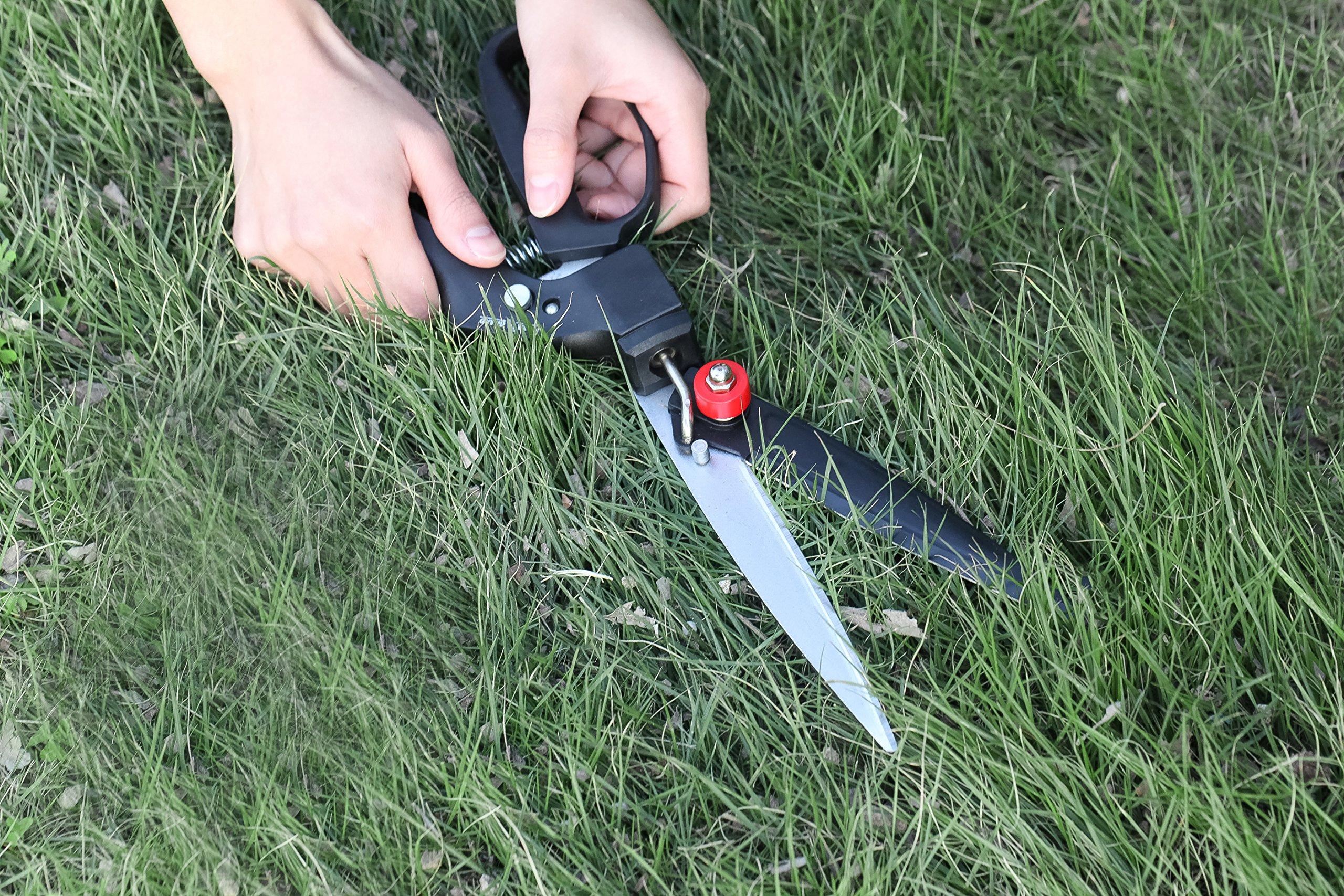 FLORA-GUARD-Rasenschere-mit-Komfortgriff-180-Grad-Drehklingen-Hartstahl-weniger-Aufwand-Komfortabel
